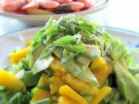 Mangosalat med avocado og forårsløg - Klik for at se opskriften
